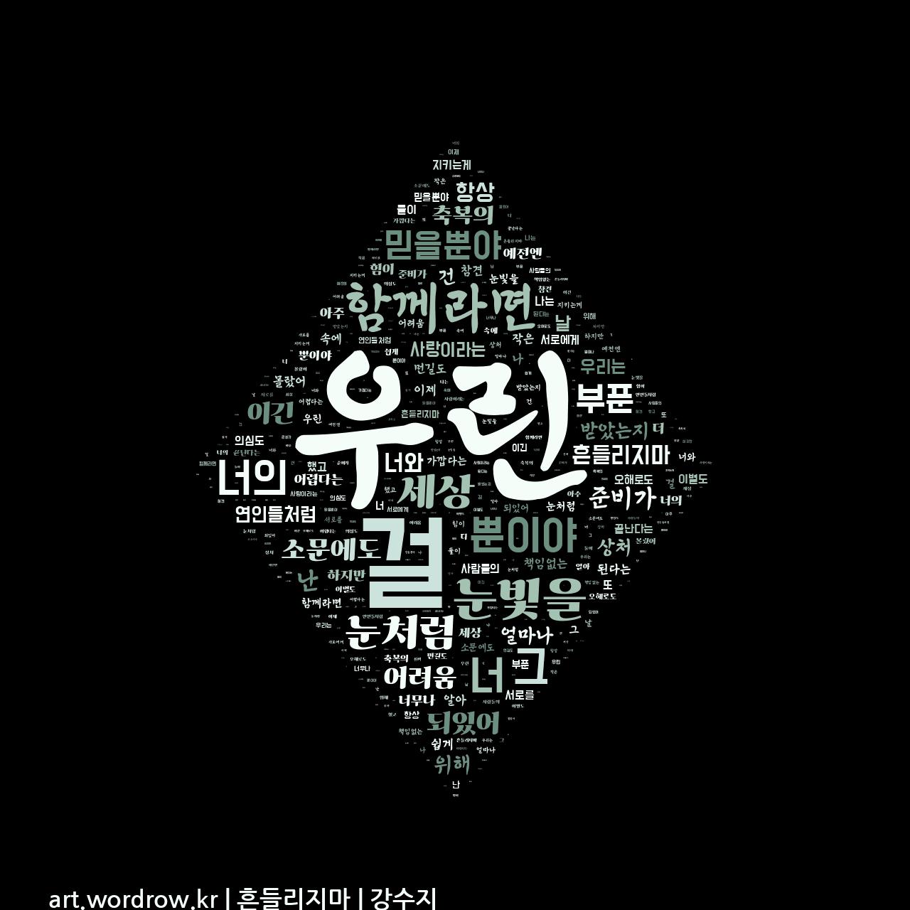 워드 아트: 흔들리지마 [강수지]-3